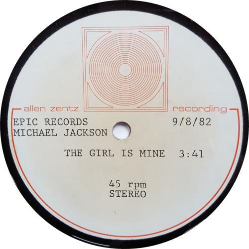 """Michael Jackson The Girl Is Mine - 10"""" acetate US M-JATTH646310"""