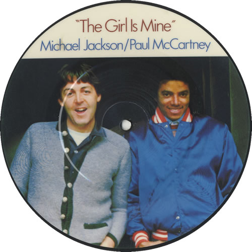 """Michael Jackson The Girl Is Mine 7"""" vinyl picture disc 7 inch picture disc single UK M-J7PTH460691"""