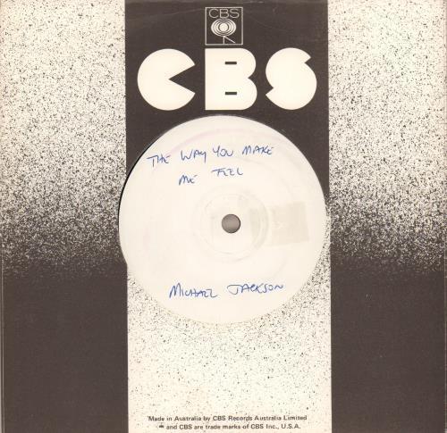 "Michael Jackson The Way You Make Me Feel - White Label 7"" vinyl single (7 inch record) Australian M-J07TH645952"