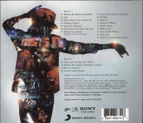 Michael Jackson This Is It Uk 2 Cd Album Set Double Cd 486538