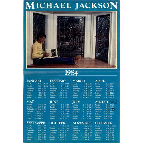 Michael Jackson Thriller Calendar Poster Uk 12 Vinyl Single 12