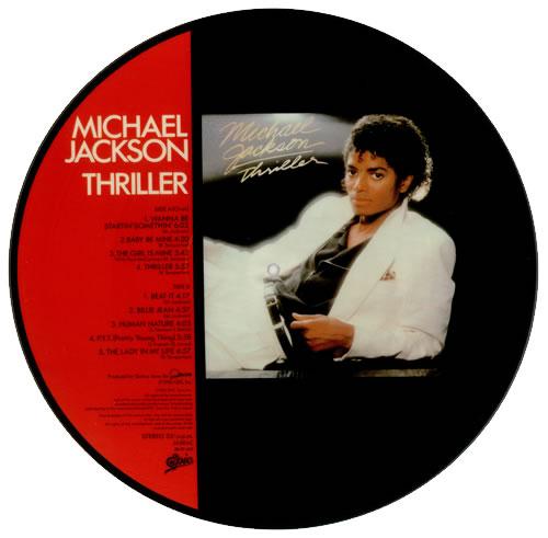 Michael Jackson Thriller + Obi picture disc LP (vinyl picture disc album) Japanese M-JPDTH146335