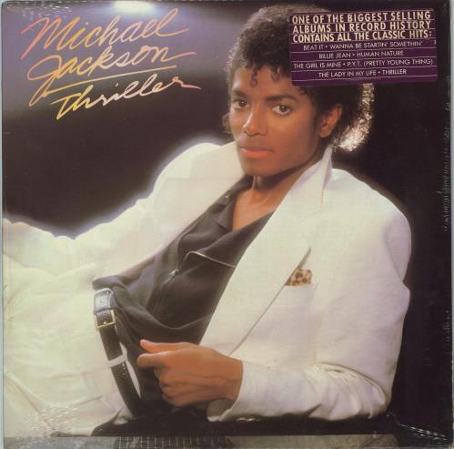 Michael Jackson Thriller - Sealed + Song Hype Sticker vinyl LP album (LP record) US M-JLPTH436518