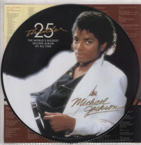 Michael Jackson Thriller 25 picture disc LP (vinyl picture disc album) US M-JPDTH464389