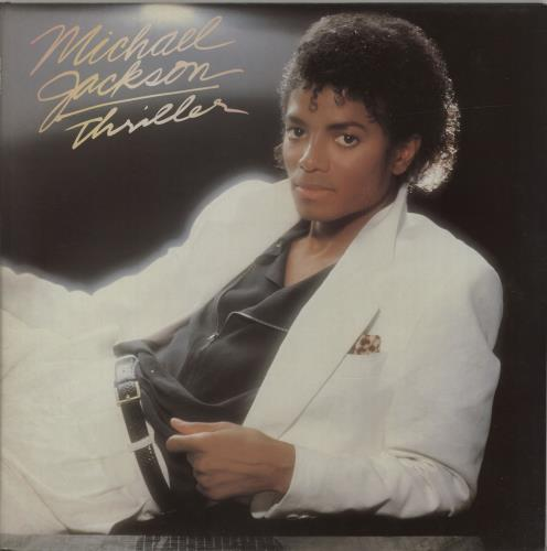 Michael Jackson Thriller vinyl LP album (LP record) UK M-JLPTH197603