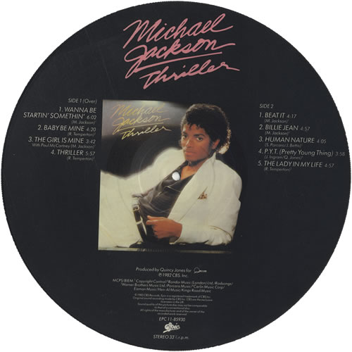 Michael Jackson Thriller Uk Picture Disc Lp Vinyl Picture