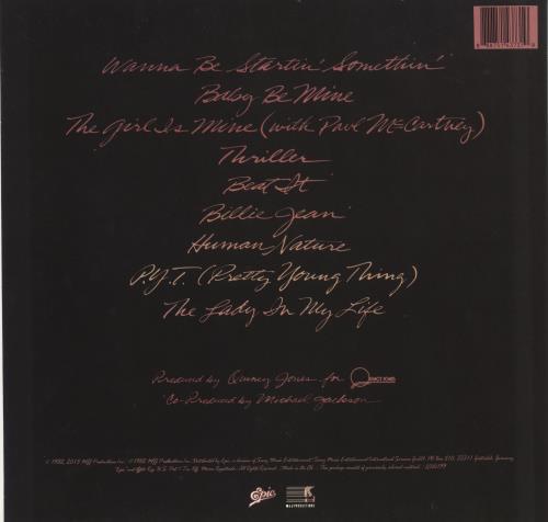 Michael Jackson Thriller vinyl LP album (LP record) UK M-JLPTH716615