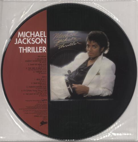 Michael Jackson Thriller picture disc LP (vinyl picture disc album) Japanese M-JPDTH746819