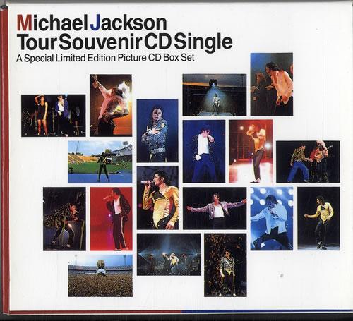 Michael Jackson Tour Souvenir CD Single Box CD Single Box Set Japanese M-JCXTO88949