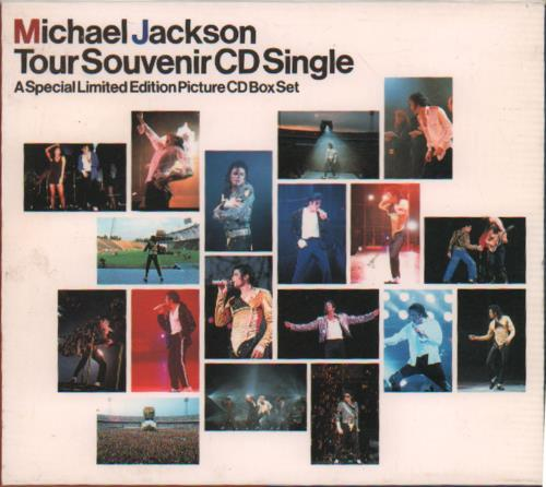 Michael Jackson Tour Souvenir CD Single box set Japanese M-JBXTO673949