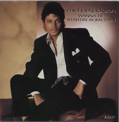 "Michael Jackson Wanna Be Startin' Somethin' - Injection + Sleeve 7"" vinyl single (7 inch record) UK M-J07WA756255"