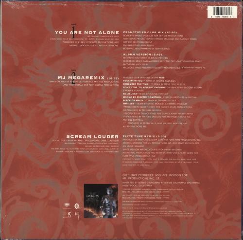 "Michael Jackson You Are Not Alone (The Remixes) - Sealed 12"" vinyl single (12 inch record / Maxi-single) US M-J12YO708929"