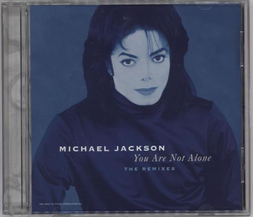 """Michael Jackson You Are Not Alone: The Remixes CD single (CD5 / 5"""") US M-JC5YO51925"""