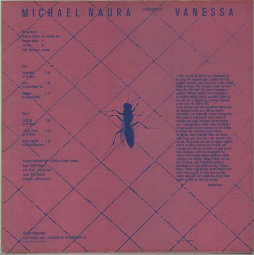 Michael Naura Vanessa vinyl LP album (LP record) German N6CLPVA674684