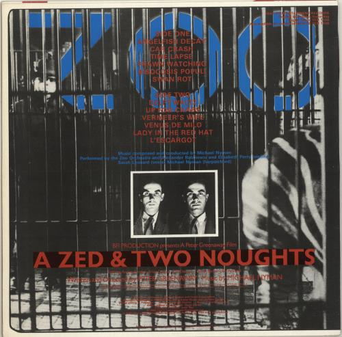 Michael Nyman A Zed & Two Noughts - Stickered vinyl LP album (LP record) UK NYNLPAZ595866