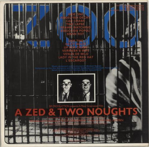 Michael Nyman A Zed & Two Noughts vinyl LP album (LP record) UK NYNLPAZ713763