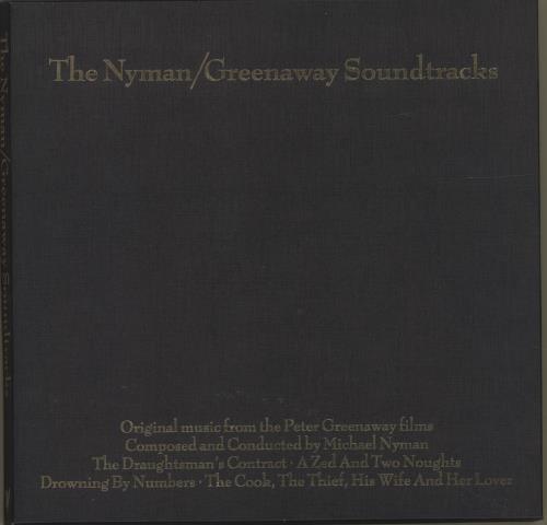Michael Nyman The Nyman / Greenaway Soundtracks CD Album Box Set UK NYNDXTH692057