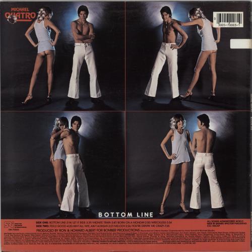Michael Quatro Bottom Line vinyl LP album (LP record) US NRMLPBO765665
