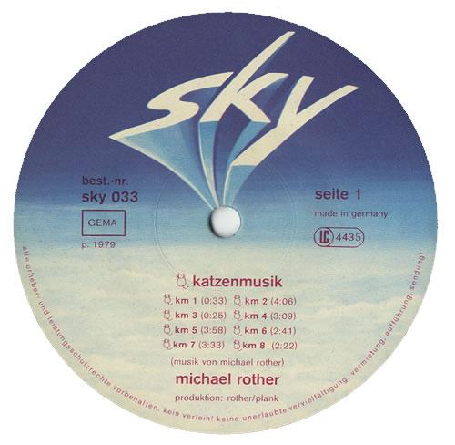 Michael Rother Katzenmusik vinyl LP album (LP record) German MXVLPKA440183