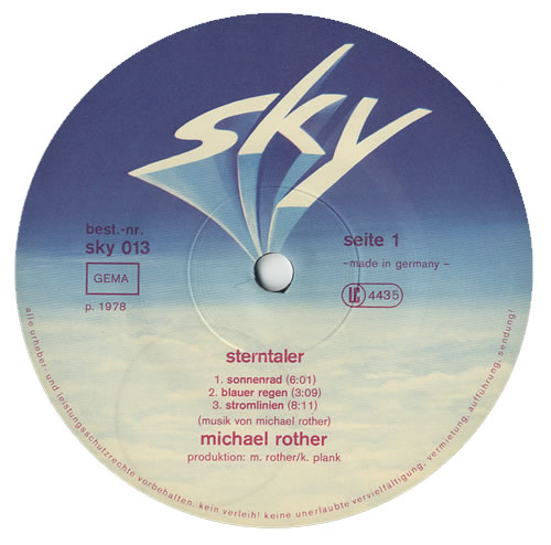 Michael Rother Sterntaler vinyl LP album (LP record) German MXVLPST440181