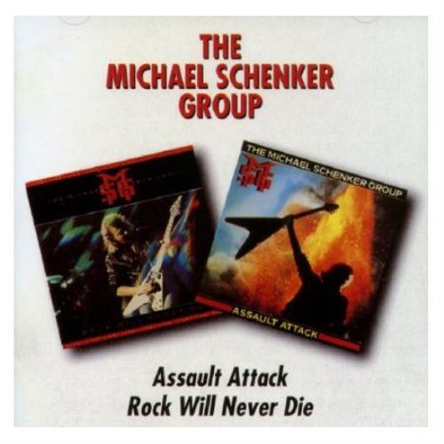 Michael Schenker Group Assault Attack / Rock Will Never Die 2 CD album set (Double CD) UK MSG2CAS472527