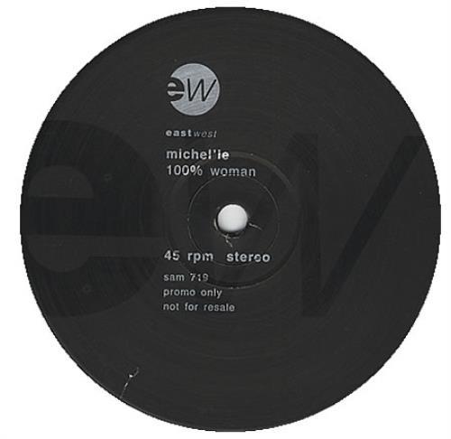"Michel'le 100% Woman 12"" vinyl single (12 inch record / Maxi-single) UK MLL12WO392983"