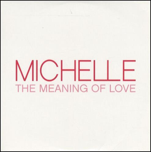 """Michelle McManus The Meaning Of Love CD single (CD5 / 5"""") UK MM1C5TH280435"""