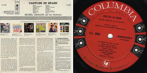 Michel Legrand Castles In Spain vinyl LP album (LP record) US MLGLPCA382317