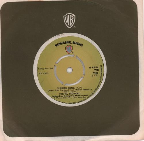 """Michel Legrand Theme From 'Summer Of 42' 7"""" vinyl single (7 inch record) UK MLG07TH662912"""