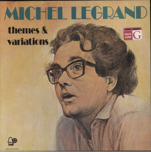 Michel Legrand Themes & Variations vinyl LP album (LP record) UK MLGLPTH455781