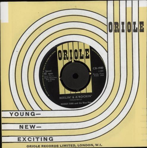 "Mickey Finn Reelin' And A Rockin' 7"" vinyl single (7 inch record) UK MQ307RE772305"