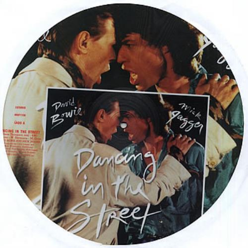 """Mick Jagger Dancing In The Street 12"""" vinyl picture disc 12inch picture disc record Colombian MKJ2PDA362118"""