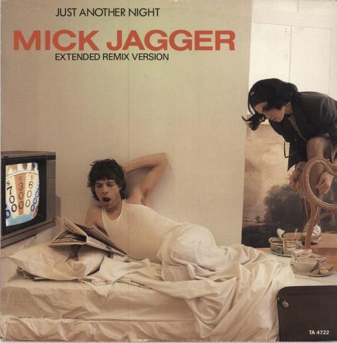 "Mick Jagger Just Another Night 12"" vinyl single (12 inch record / Maxi-single) UK MKJ12JU20226"