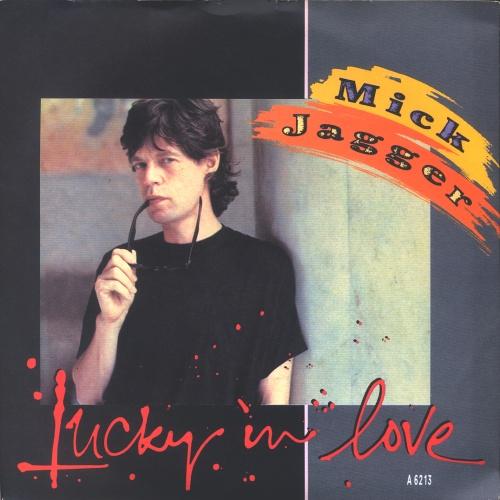 """Mick Jagger Lucky In Love 7"""" vinyl single (7 inch record) UK MKJ07LU31703"""