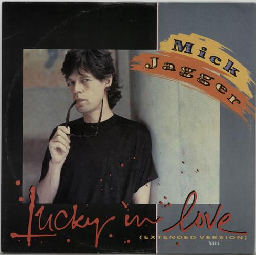 "Mick Jagger Lucky In Love 12"" vinyl single (12 inch record / Maxi-single) UK MKJ12LU37795"