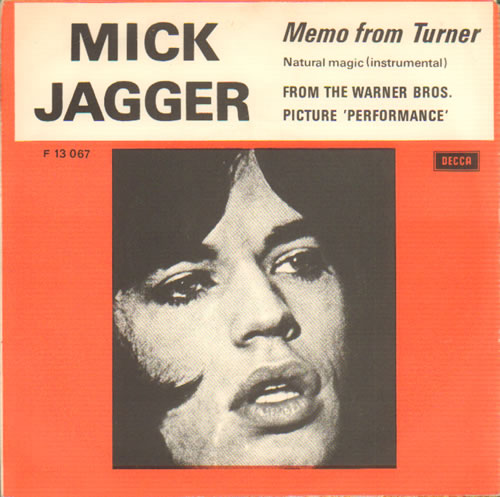 "Mick Jagger Memo From Turner - P/S 7"" vinyl single (7 inch record) Danish MKJ07ME345491"