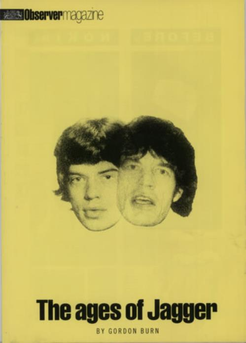 Mick Jagger Observer Magazine magazine UK MKJMAOB617555