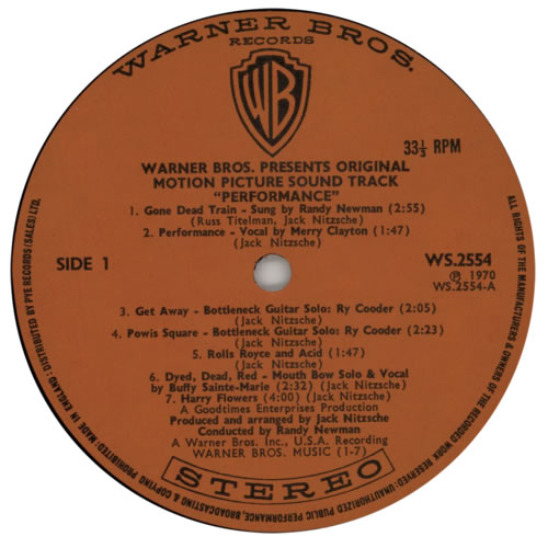 Mick Jagger Performance - 1st vinyl LP album (LP record) UK MKJLPPE591589