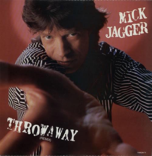 "Mick Jagger Throwaway 12"" vinyl single (12 inch record / Maxi-single) UK MKJ12TH20426"