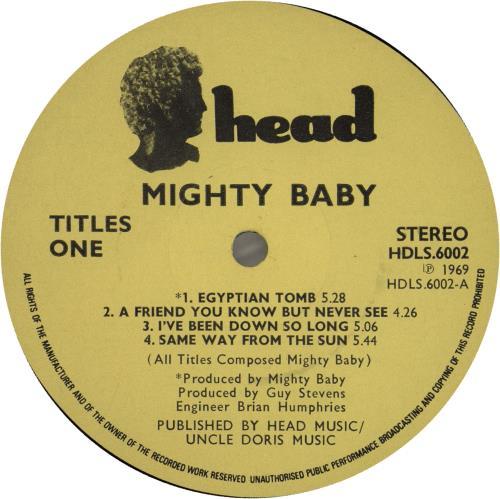 Mighty Baby Mighty Baby - 1st vinyl LP album (LP record) UK HTYLPMI636305