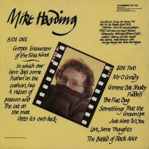 Mike Harding Flat Dogs And Shaky Pudden' vinyl LP album (LP record) UK M.HLPFL751709