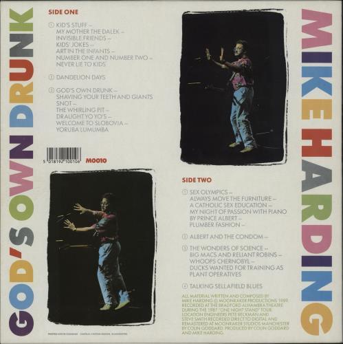 Mike Harding God's Own Drunk vinyl LP album (LP record) UK M.HLPGO751708