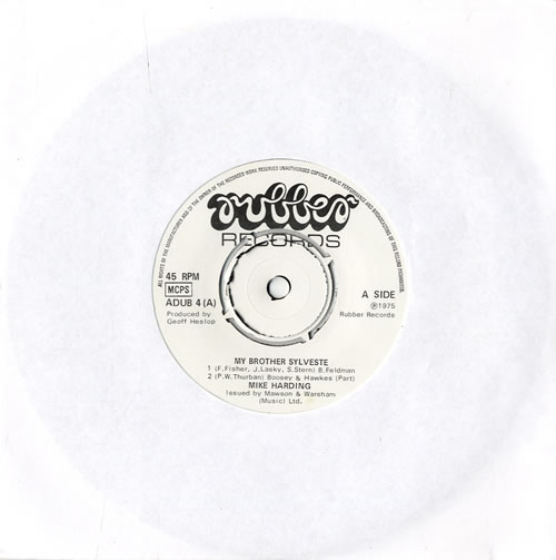 """Mike Harding My Brother Sylveste 7"""" vinyl single (7 inch record) UK M.H07MY564201"""
