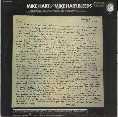 Mike Hart Mike Hart Bleeds vinyl LP album (LP record) UK MI0LPMI308863