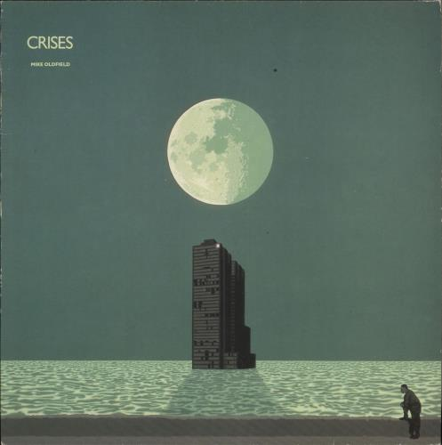Mike Oldfield Crises - EX vinyl LP album (LP record) UK OLDLPCR223509