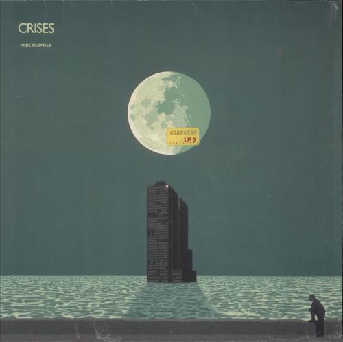 Mike Oldfield Crises vinyl LP album (LP record) German OLDLPCR52064