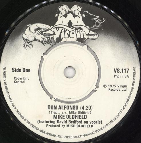 "Mike Oldfield Don Alfonso 7"" vinyl single (7 inch record) UK OLD07DO124320"