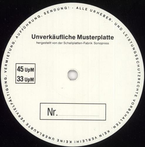 Mike Oldfield Earth Moving - Test Pressing vinyl LP album (LP record) German OLDLPEA734076