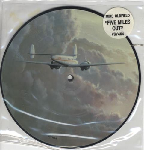 "Mike Oldfield Five Miles Out 7"" vinyl picture disc 7 inch picture disc single UK OLD7PFI19821"
