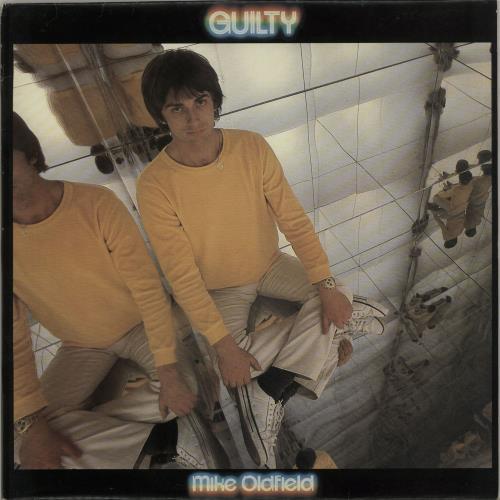 "Mike Oldfield Guilty - Blue Vinyl 12"" vinyl single (12 inch record / Maxi-single) UK OLD12GU07024"